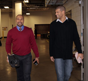 Houston Rockets Shane Battier and Los Angeles Lakers Derek Fisher