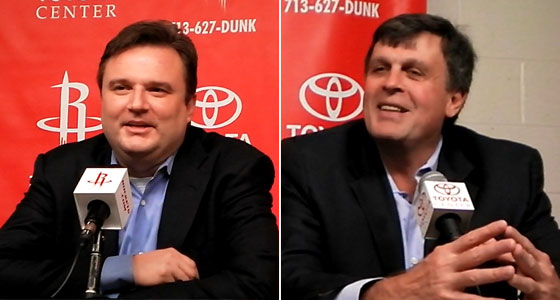 Houston Rockets GM Daryl Morey and Houston Rockets coach Kevin McHale