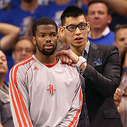 Aaron Brooks and Jeremy Lin