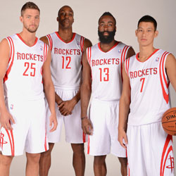 Chandler Parsons Dwight Howard James Harden and Jeremy Lin