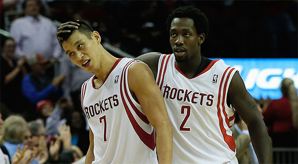 Jeremy Lin and Patrick Beverley