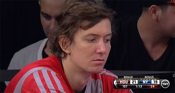 Omer Asik on the bench