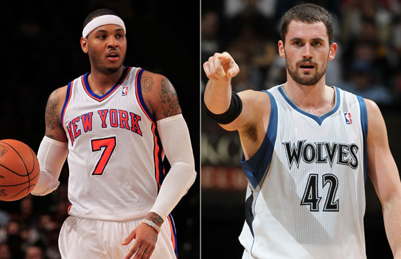 Carmelo Anthony and Kevin Love