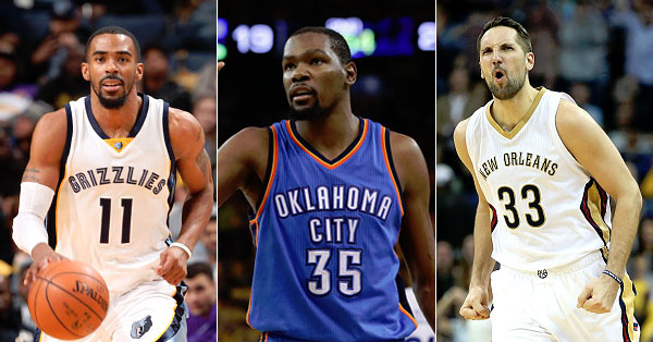 NBA Free Agents 2016 Mike Conley Kevin Durant Ryan Anderson