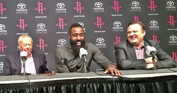 James Harden signs Rockets extension