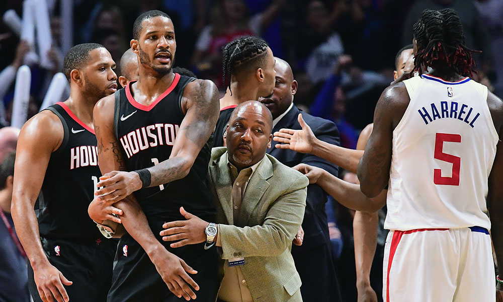 Houston Rockets Los Angeles Clippers fight